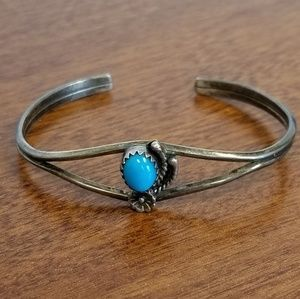Jewelry - Old Pawn sleeping beauty turquoise cuff bracelet